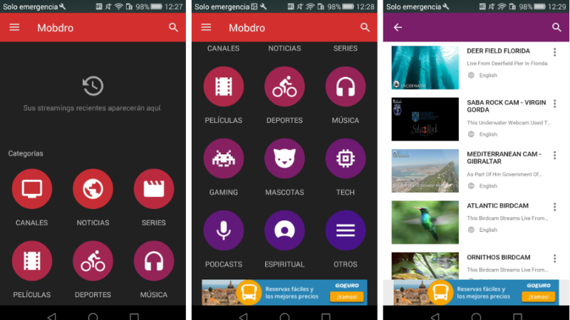 interface mobdro android
