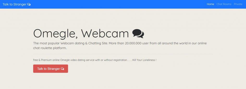 Omegle Webcam : Plus de 20.000.000.000 d'utilisateurs dans le monde entier