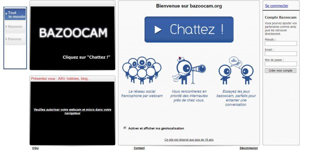 Bazoocam vous permettra de connaître des personnes sympas, de vous faire de nouveaux amis et, pourquoi pas, de trouver l'amour