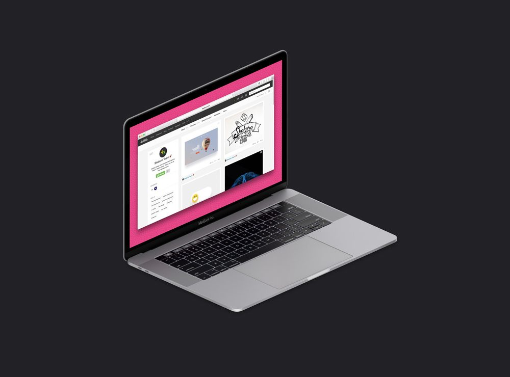 Free Isometric MacBook Pro Mockup