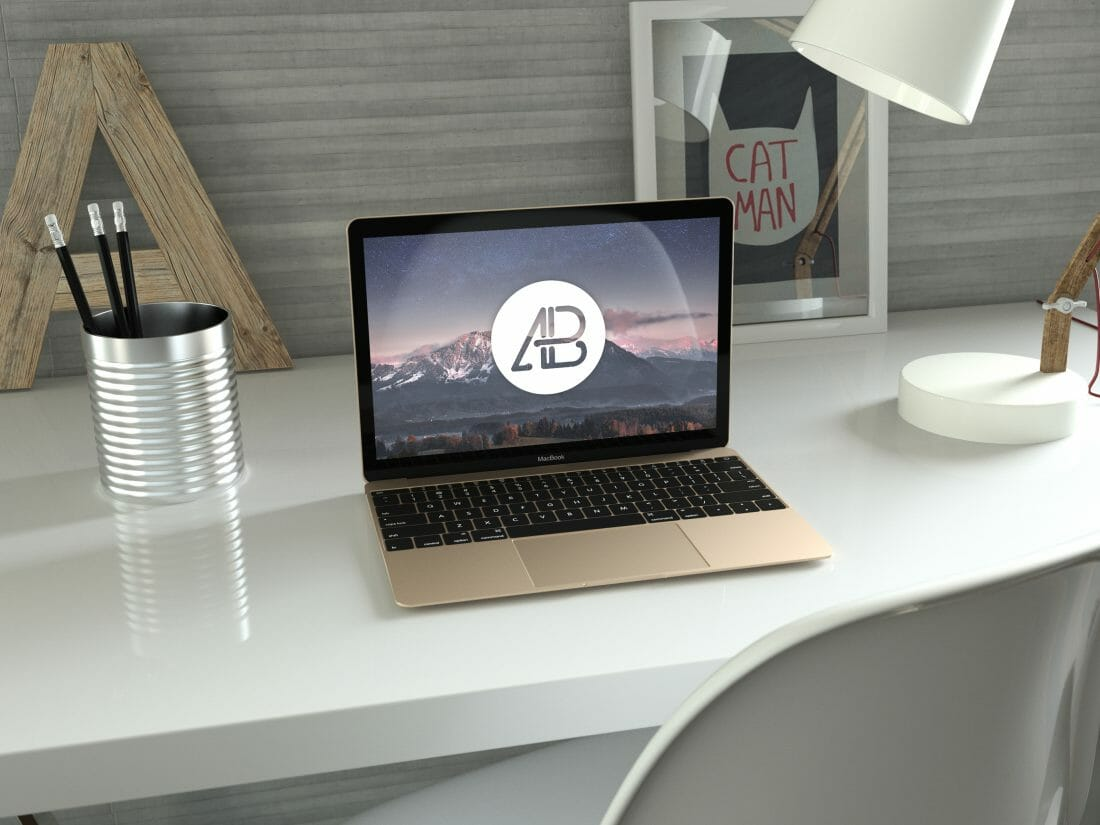 Free Macbook Mockup Model to Download