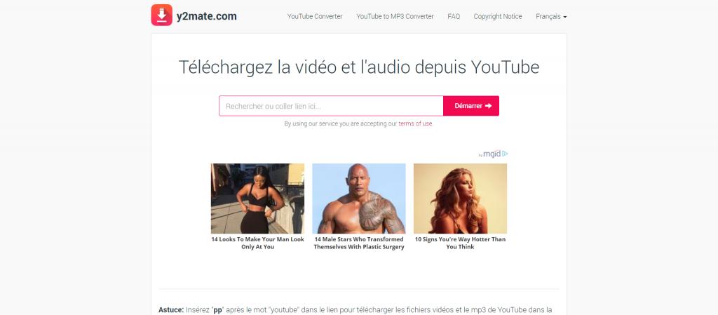 Y2mate : convertisseur vidéo Youtube MP3