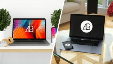 MacBook Mockups : 25 Maquettes Macbook gratuites à télécharger en 2019