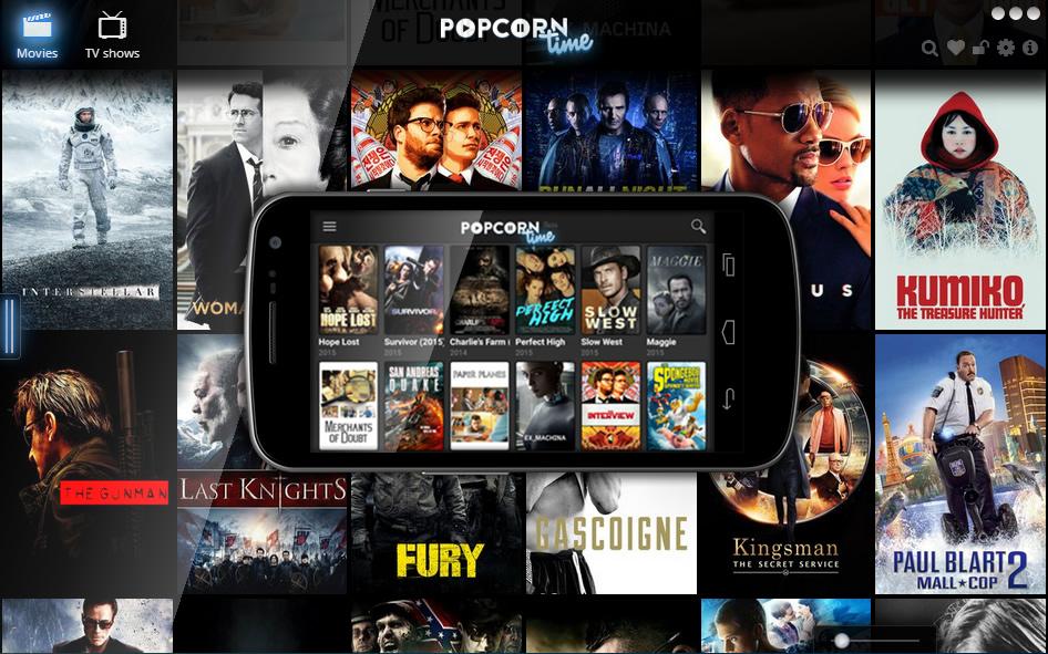 popcorn time : Disponibles sur Microsoft Windows, macOS, Linux et Android