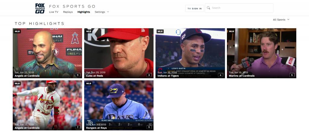 FoxSportsGO est l'un des meilleurs sites comme StopStream