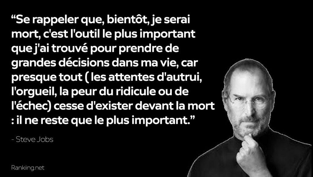 Citations sur la Vie : Steve Jobs Quote