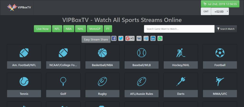 VIPBoxTV - Meilleure Alternatives à StopStream TV