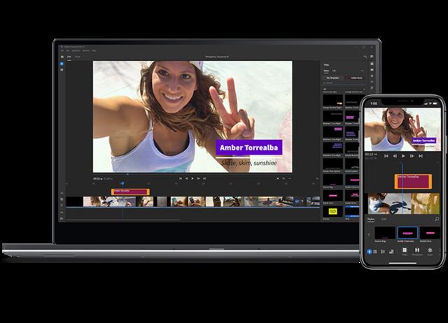 Adobe Premiere et Adobe Premiere rush - application de montage Youtube
