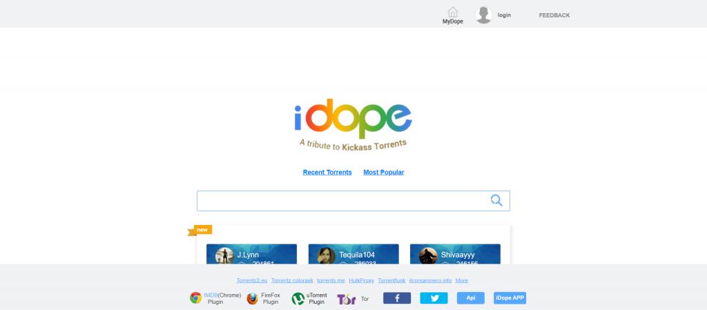 iDope : Site de telechargement Torrents comme T411