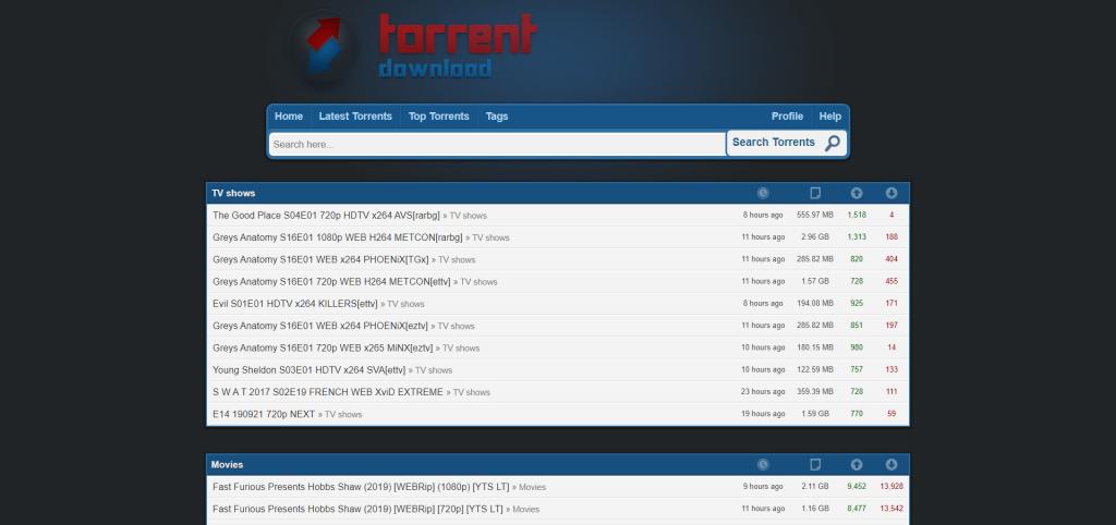 Meilleures Alternatives à T411 - torrentdownload.info