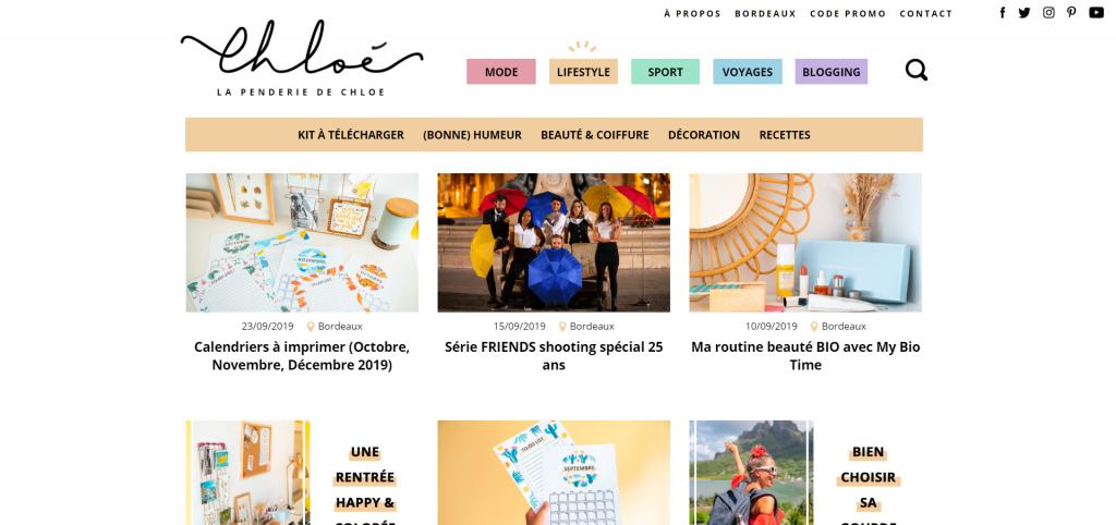 Meilleurs Blogs Lifestyle Français - La Penderie de Chloé