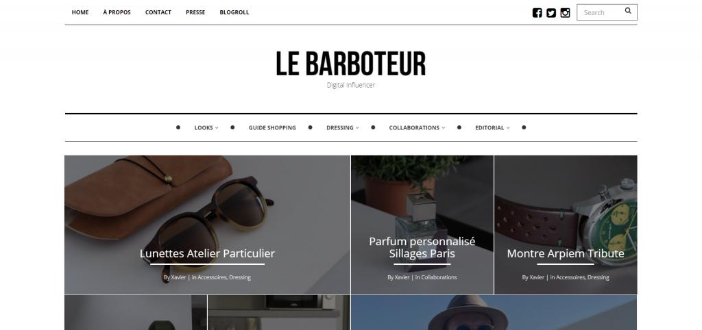 Meilleurs Blogs Lifestyle Français - Le Barboteur - Instagram