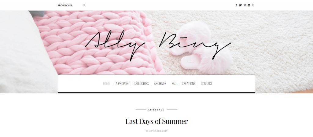 Ally Bing lifestyle blog