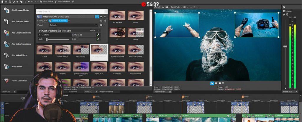 logiciels de montage video pour youtube payants - VEGAS Movie Studio 16 Platinum