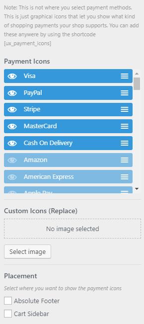 Afficher/Cacher les icons Flatsome
