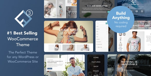 Flatsome WordPress Theme : présentation du théme WooCommerce le plus vendu