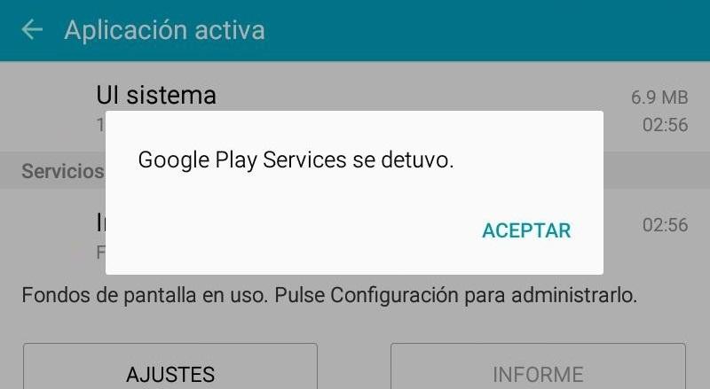 les services de google play ont été arrêtés
