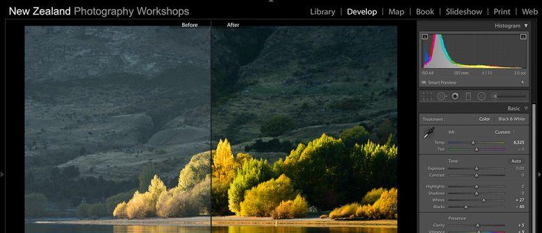 Interface Adobe Lightroom