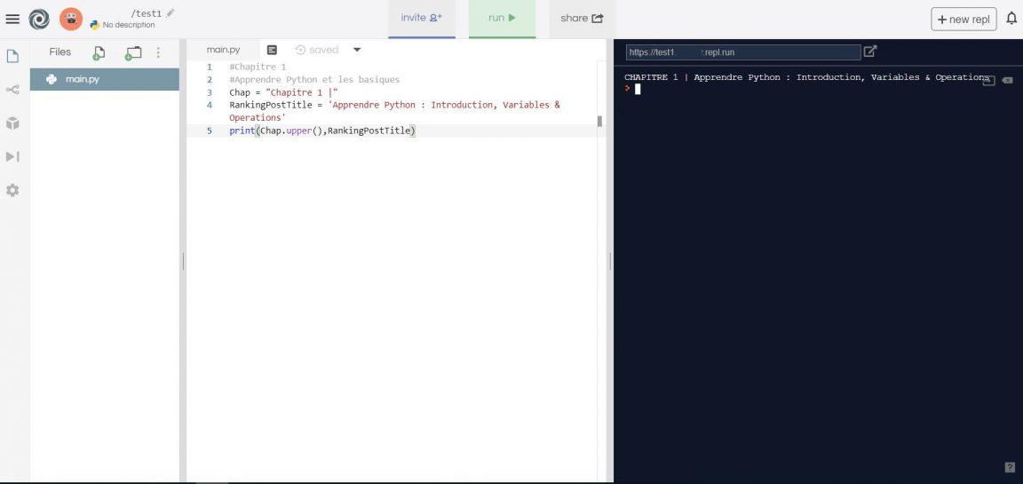 Apprendre Python : Introduction, Variables, Types & Opérations de base