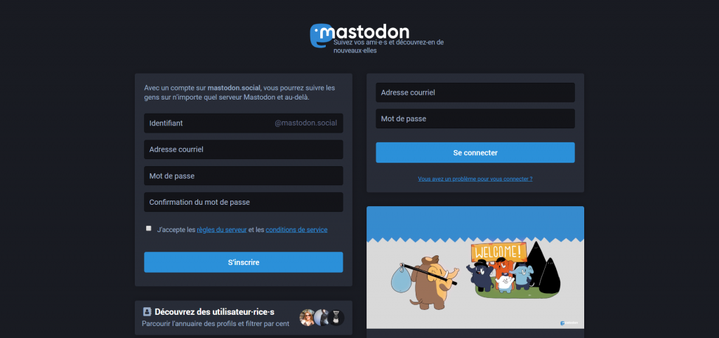 meilleures alternatives Tumblr - Mastodon