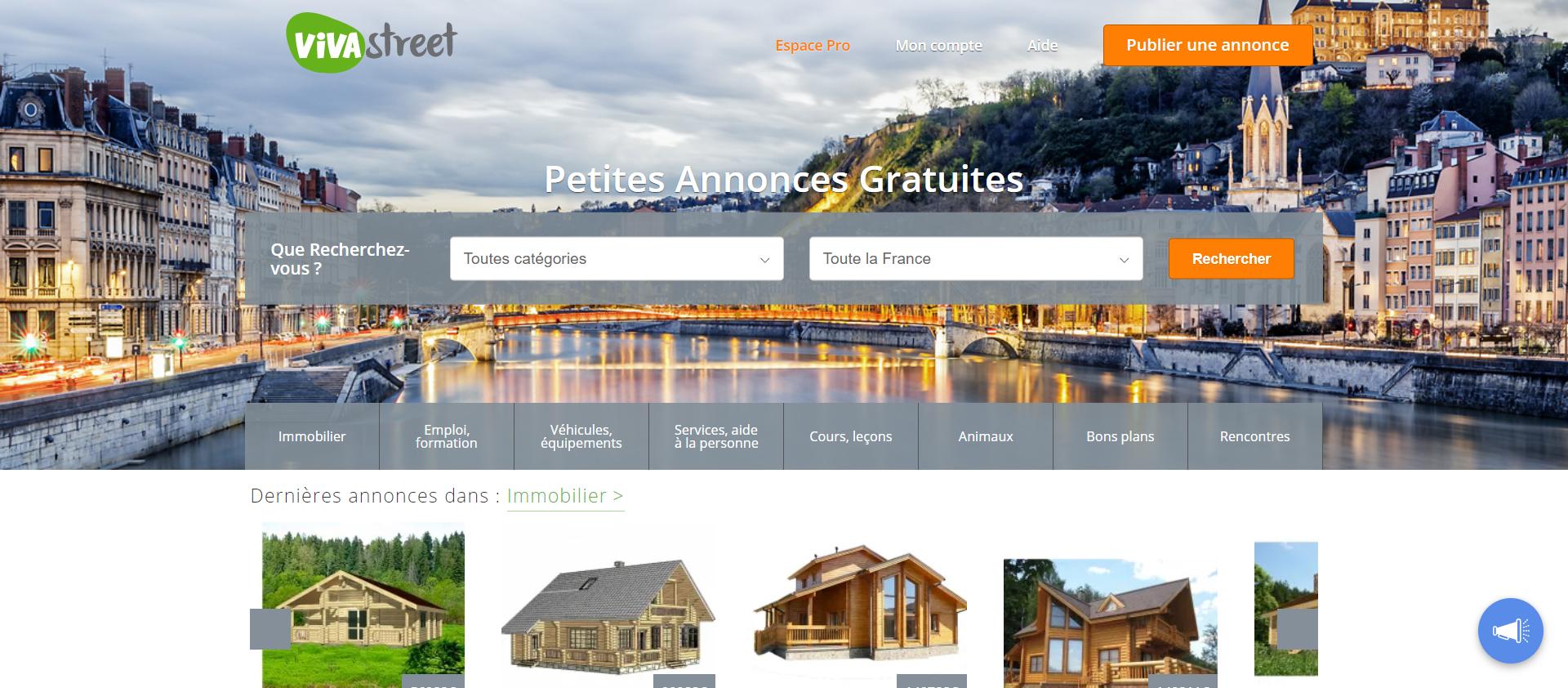 interface vivastreet.com - Petites Annonces Gratuites _ Emploi , Animaux, Services, Immobilier