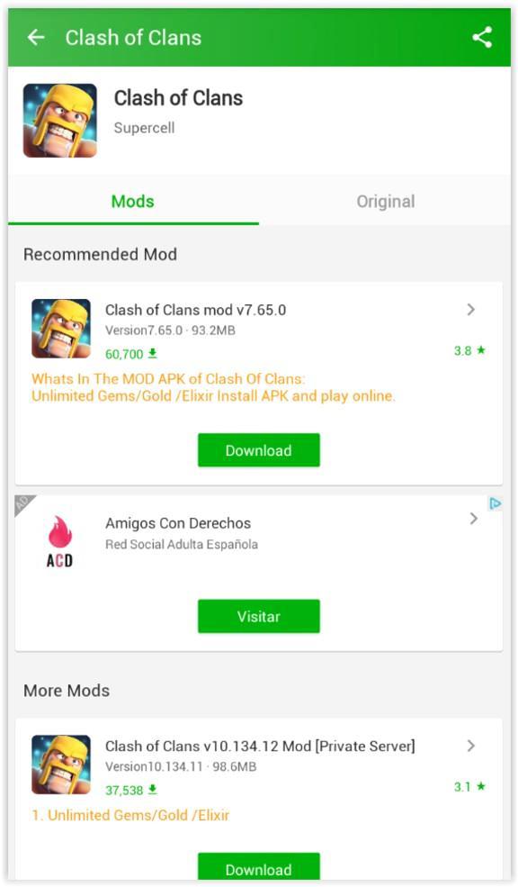 Happymod : Clash of Clans Mod