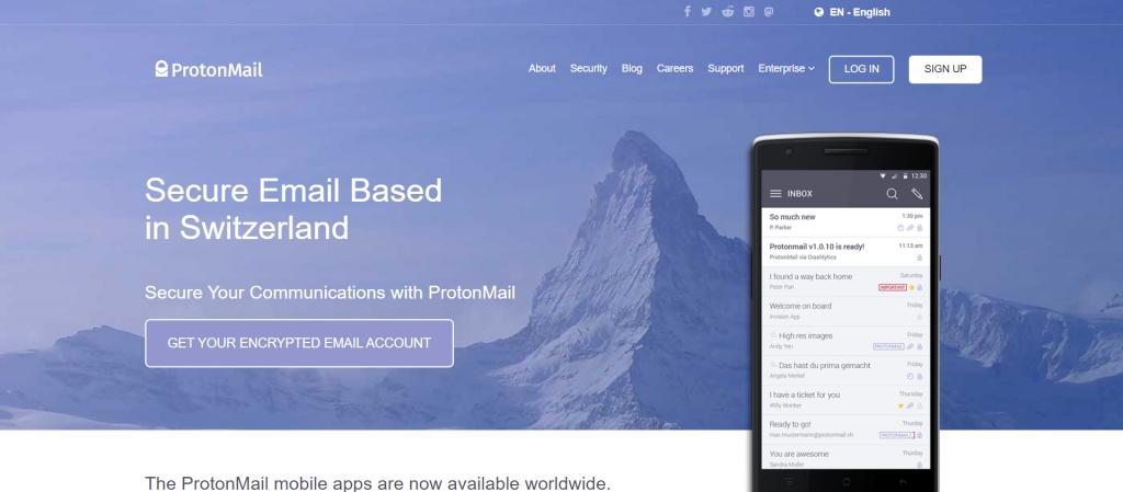 ProtonMail est une société de droit suisse et tous ses serveurs sont situés en Suisse. Cela signifie que toutes les données des utilisateurs sont protégées par les lois suisses strictes sur la protection de la vie privée.