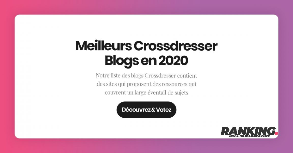 Meilleurs Crossdresser Blogs en 2020