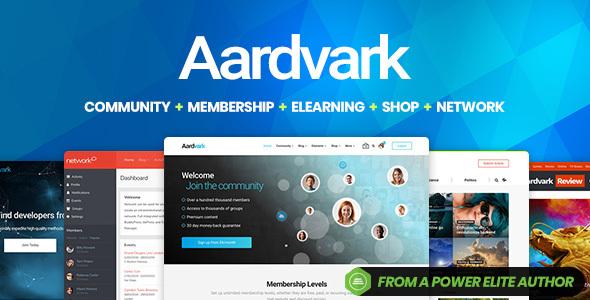 WP Thème : Aardvark – Communauté, adhésion, thème BuddyPress (Guide,
