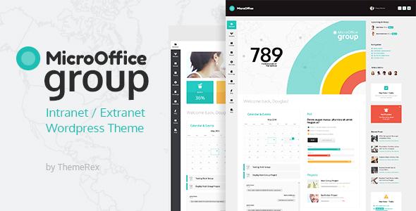 WP Thème : Micro Office | Thème WordPress Extranet et