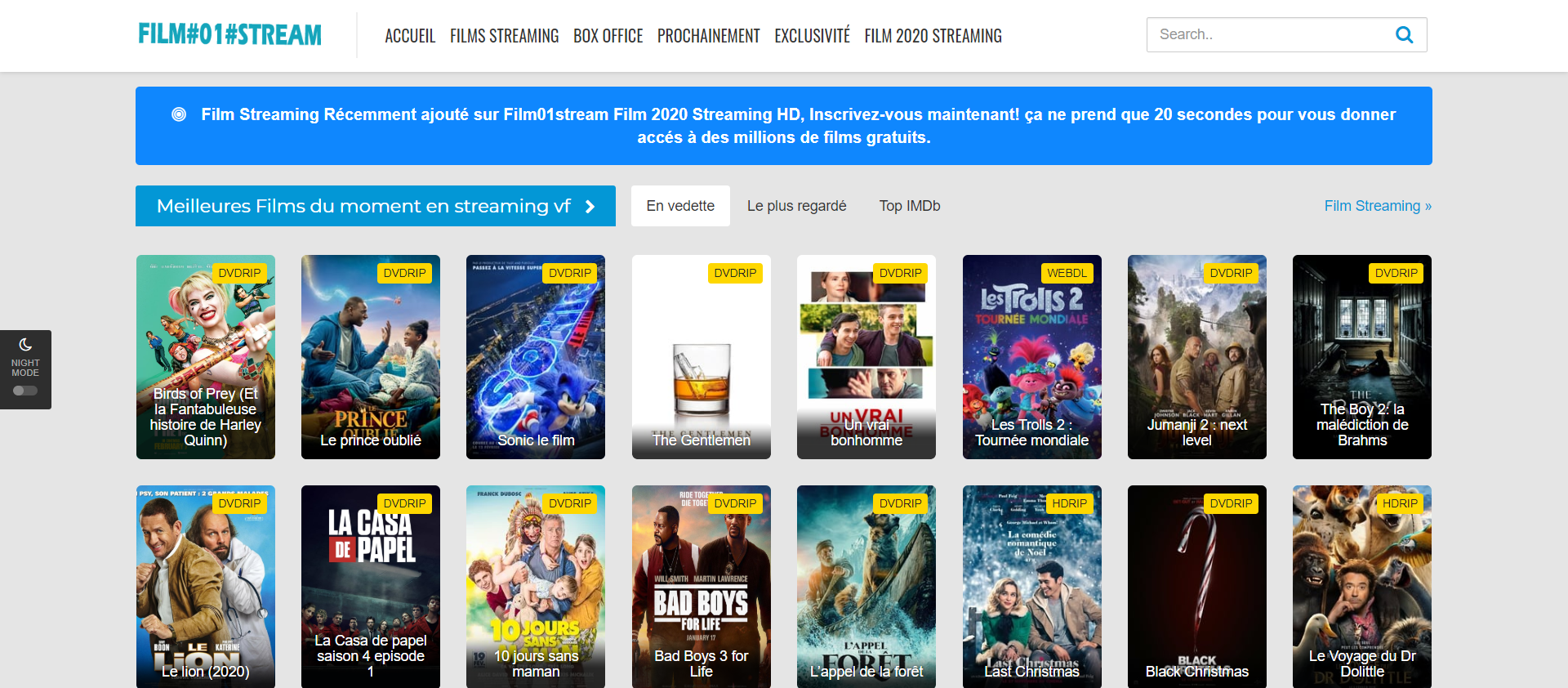 meilleures alternatives Dadyflix - film01stream