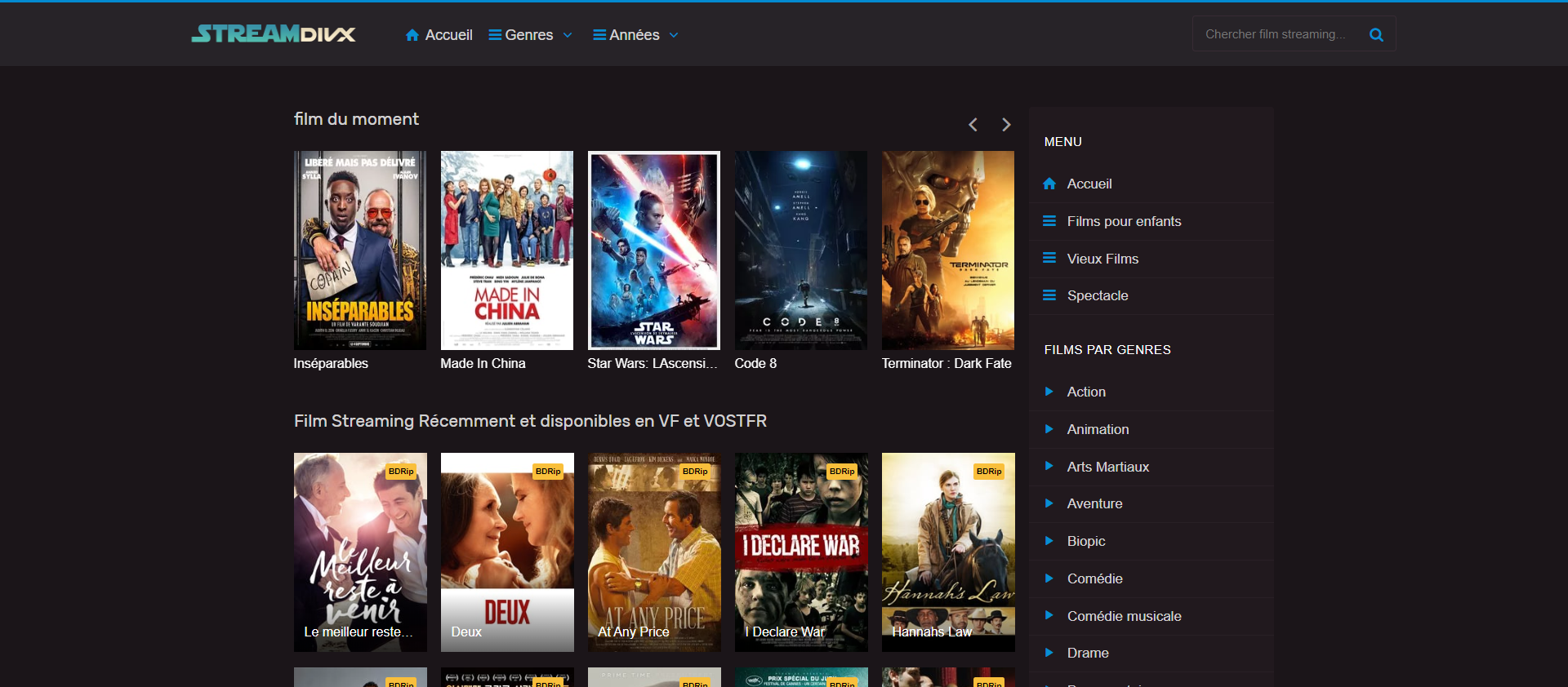 meilleures alternatives Dadyflix - streamdivx Film Streaming Gratuit, Voir Film en Streaming Complet VF