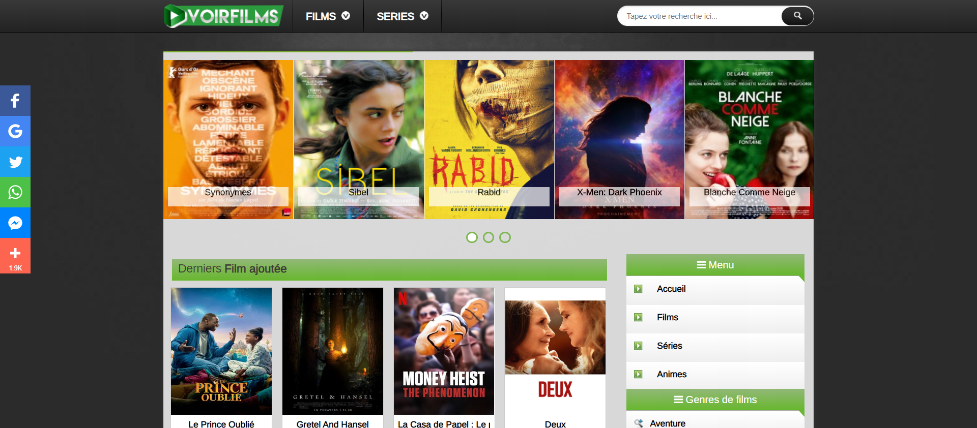 meilleures alternatives Dadyflix - voirfilm ws