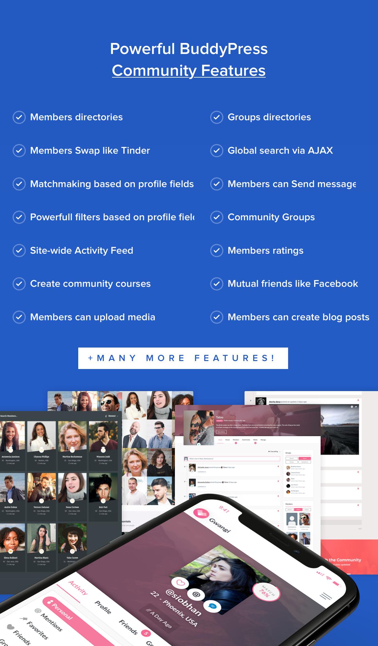 Gwangi - Adhésion polyvalente PRO, réseau social et thème de la communauté BuddyPress - 20