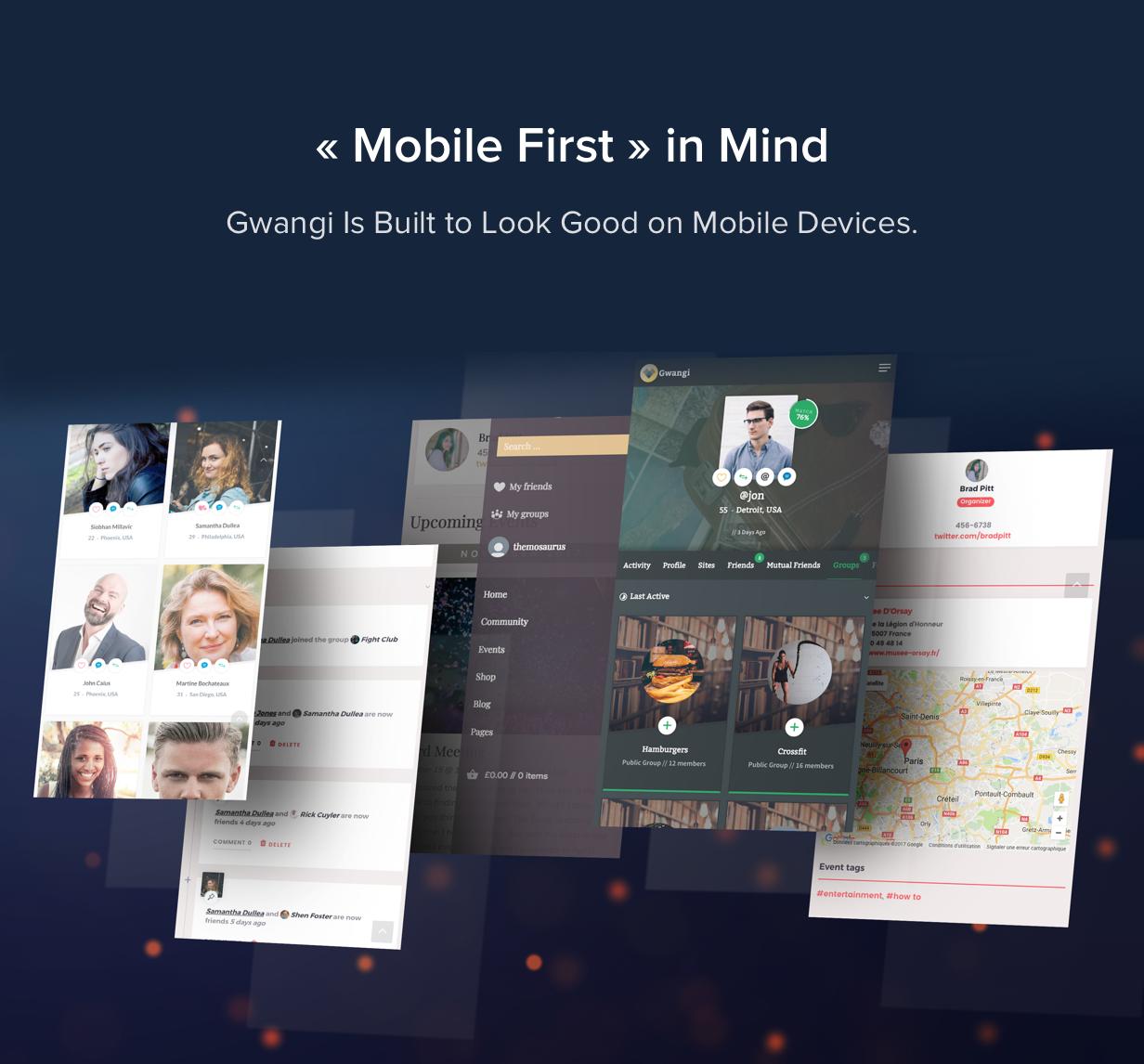 Gwangi - Adhésion polyvalente PRO, réseau social et thème de la communauté BuddyPress - 40