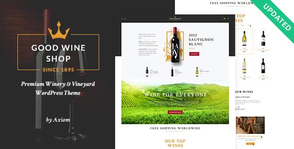 WP Thème : Bon vin | Thème WordPress Vineyard &