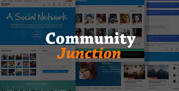 WP Thème : CommunityJunction – Thème d'adhésion BuddyPress (Guide, Téléchargement