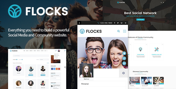 WP Thème : Flocks – Thème WordPress pour les entreprises,