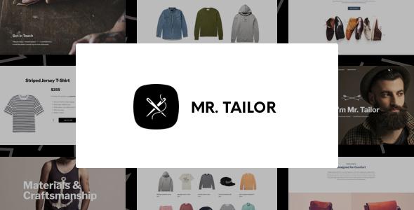 WP Thème : Mr. Tailor – Thème WordPress eCommerce pour