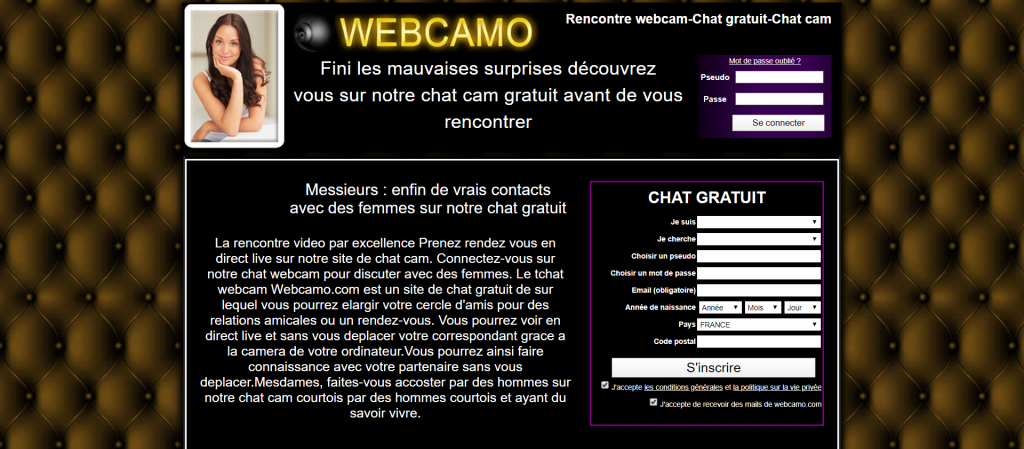 interface webcamo com site de rencontre gratuit