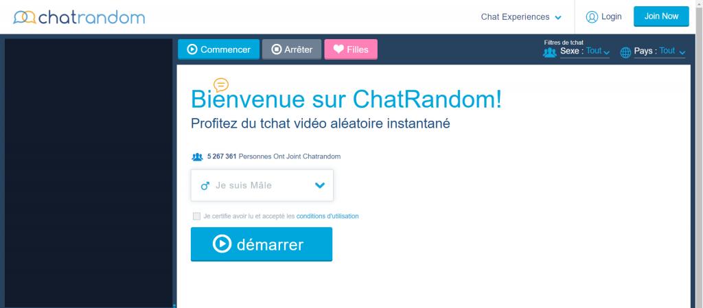 ChatRandom site de chat webcam