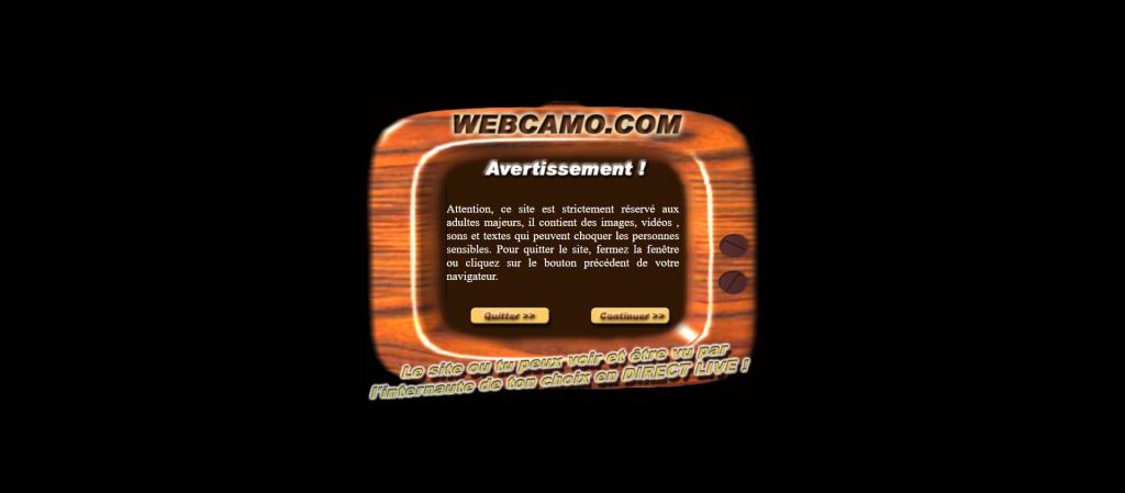 Interface Webcamo.com en 2003