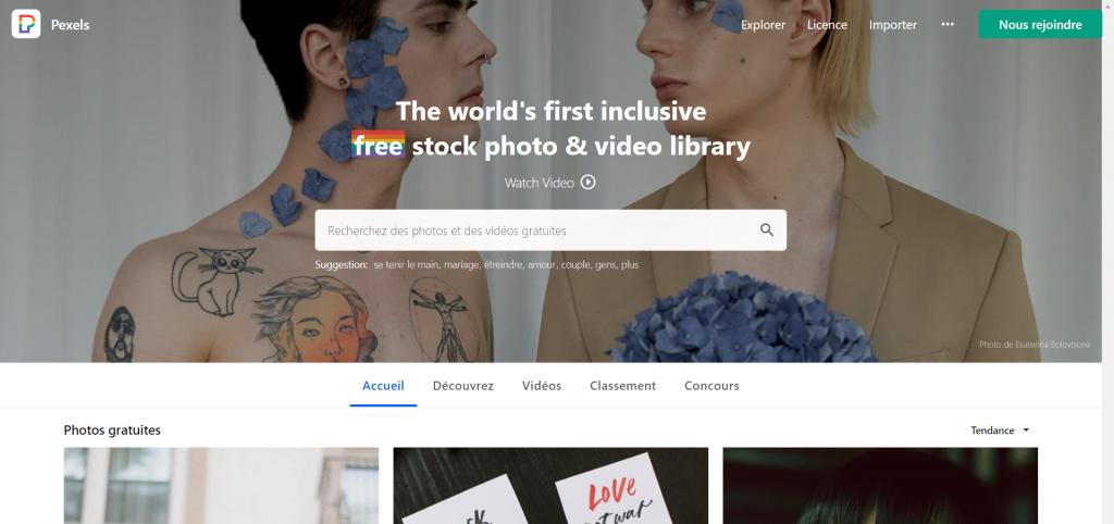 Top Sites comme freepik - Pexels