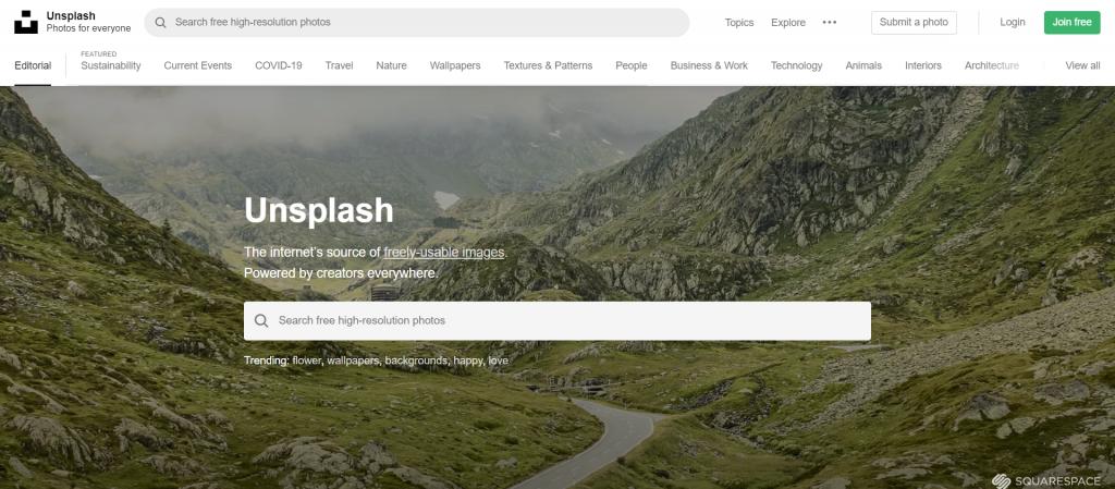 Unsplash : De belles images gratuites