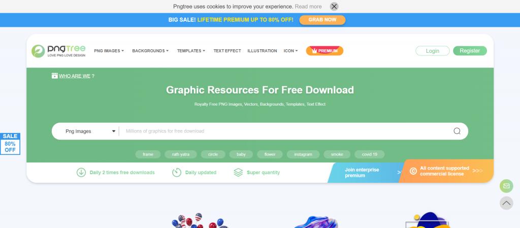 Meilleure alternative freepik : Pngtree Des millions d'images, de fonds et de vecteurs en PNG