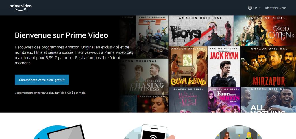 Amazon Prime : Une large sélection de films populaires et de rediffusions télévisées