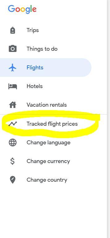 accéder à toute alerte de prix de vol définie