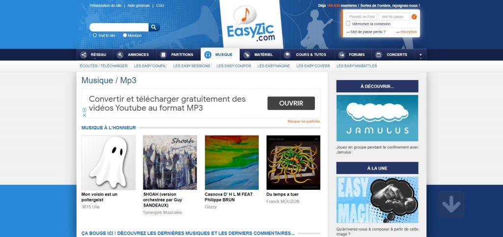 Meilleurs sites téléchargement Musique mp3 Gratuit - easyzic