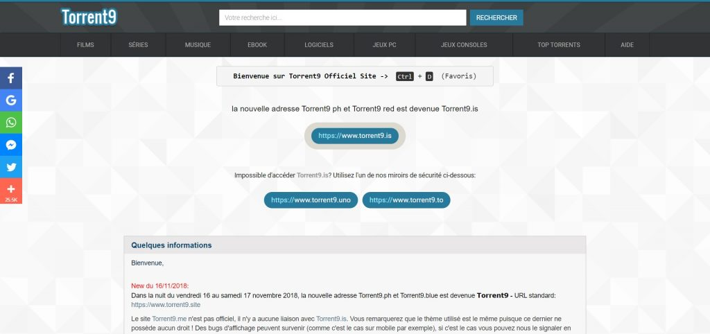 Torrent9.site - Telecharger avec Torrent9 Officiel Site
