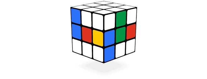 Cube de Rubik - google doodle